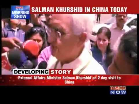 Salman Khurshid in China today