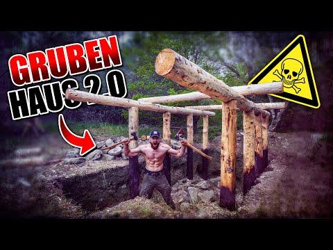 GRUBENHAUS 2.0 Bushcraft Shelter #005 - Lagerbau - Outdoor Bushcraft Camp | Fritz Meinecke from YouTube · Duration:  13 minutes 55 seconds