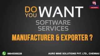 Software Services by Auro Mine Solutions Pvt. Ltd., Chennai