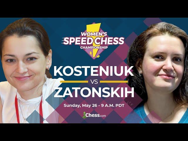 2019 Womens Speed Chess Championship: Alexandra Kosteniuk vs. Anna Zatonskih