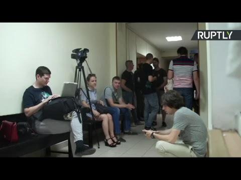 Заседание суда по делу главреда РИА Новости Украина Кирилла Вышинского