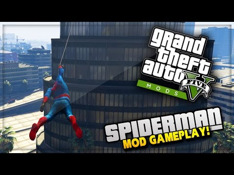 GTA 5 PC Mods - SPIDERMAN MOD with web swing! GTA 5 Spiderman Mod Gameplay! (GTA 5 PC Mods)