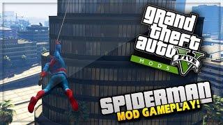 GTA 5 PC Mods - SPIDERMAN MOD with web swing! GTA 5 Spiderman Mod Gameplay! (GTA 5 PC Mods)