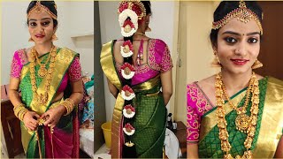 REAL BRIDE -Traditional South Indian Bridal Makeup Look | MORNING MUHURTHAM Tamil bride