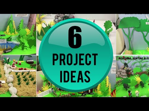School project ideas | Environmental protection and awareness models | Save Earth, earth day project