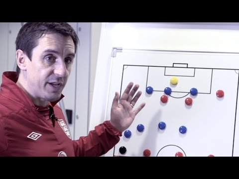 Gary Neville | How to build a partnership between full-backs and wingers | Football tactics