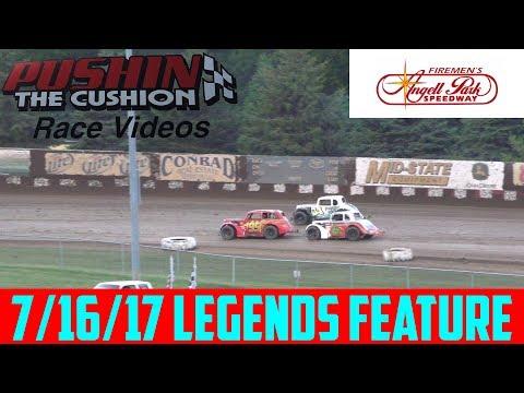 Angell Park Speedway - 7/16/17 - Legends - Feature