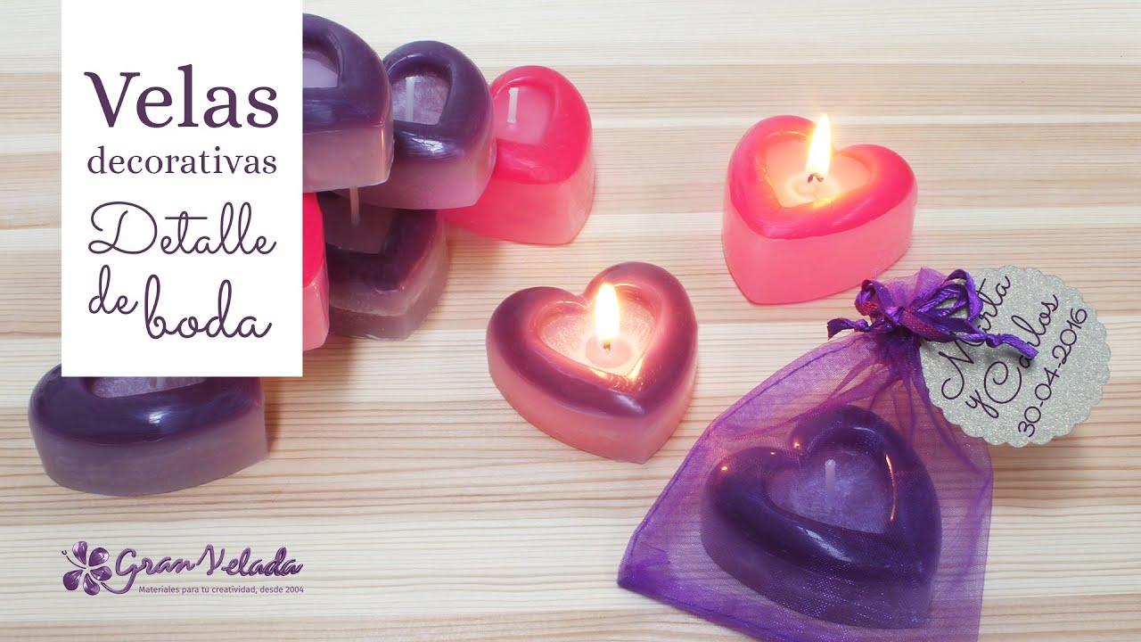 velas decorativas para detalle de boda