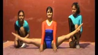 Extreme Flexibility in yoga asanas from India 1