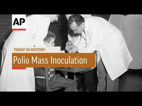 Polio Mass Inoculation  1954  Today In History  23 Feb 18