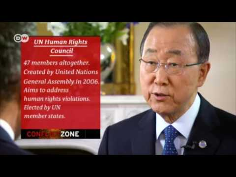 Ban Ki Moon Pressed on Hypocrisy of Saudi Arabia's Role on UN Human Rights Council