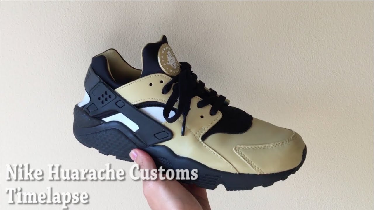 bc0a390a8d52 Nike Huarache Customs Timelapse - YouTube