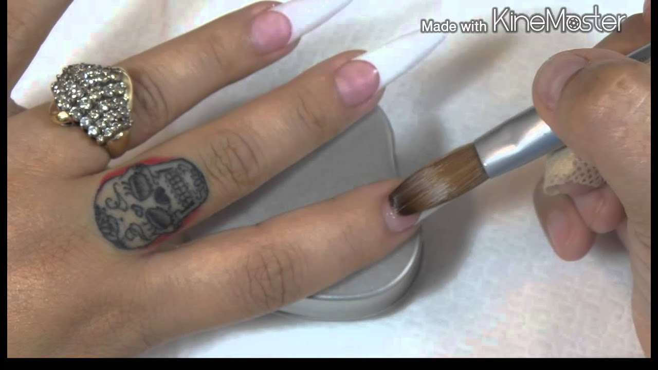 French White Stiletto Nails Youtube