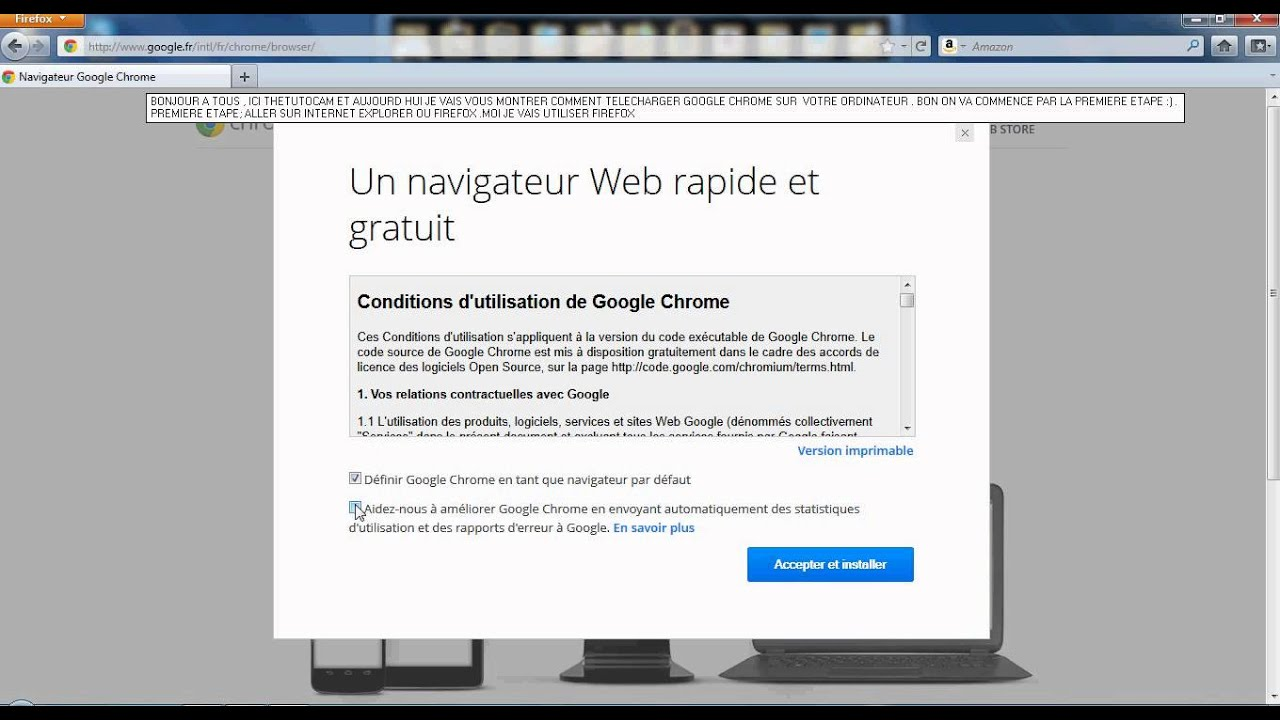 Et Google Chrome installer Télécharger
