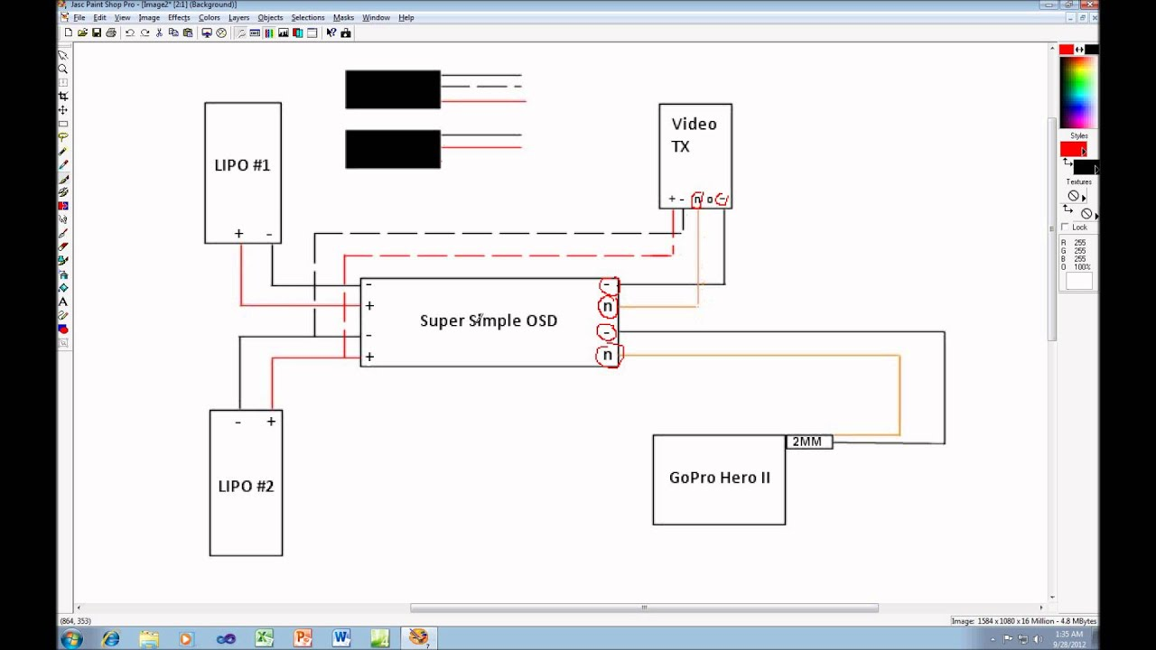 fpv wiring diagram reese brake controller gopro hero ii schematic hd youtube