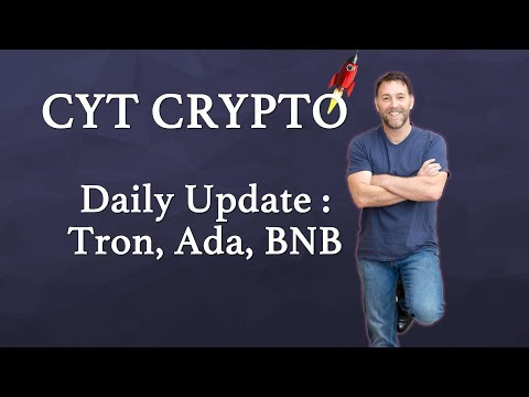 Trading Update - Tron, Cardano, Binance, Stellar