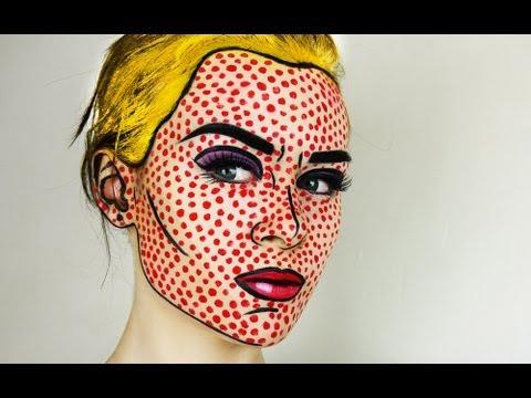 Pop Art Comic Book Makeup Tutorial Emma Pickles Youtube