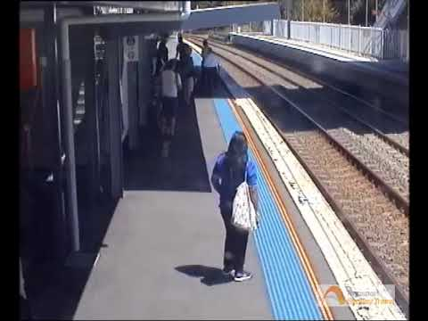 Thumbnail: Baby in Pram Rolls Towards Train Tracks at West Ryde