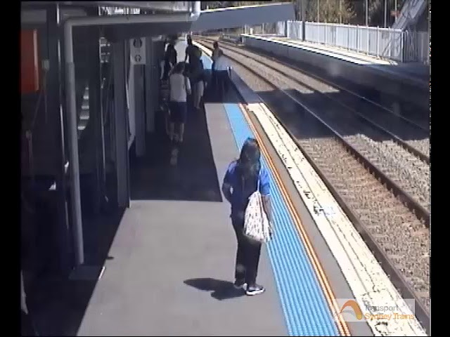 Baby in Pram Rolls Towards Train Tracks at West Ryde