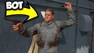 COD WW2 - THE BOT VS US!! (Funny Custom Game)