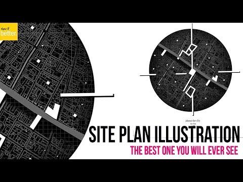 Site Plan Illustration LCLA Style   Photoshop