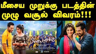 Meesaya Murukku Final Boxoffice Collection | HIT or FLOP | Tamil Boxoffice