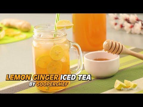 Lemon Ginger Iced Tea Recipe By SooperChef | Iftar Drinks | Ramadan Drinks | Drinks For Iftar