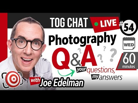 🔴 LIVE TogChat™ #54 - Is it ok to WORK for FREE in order to build a photography PORTFOLIO?