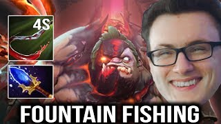 Miracle Pudge Fountain Fishing with 4sec Hook Dota 2