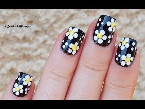 dotting tool nail art #4 - black