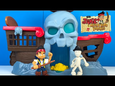 JAKE AND THE NEVERLAND PIRATES BATTLE AT SHIPWRECK FALLS - TREASURE PIRATE MUMMY CAPTAIN FLYNN
