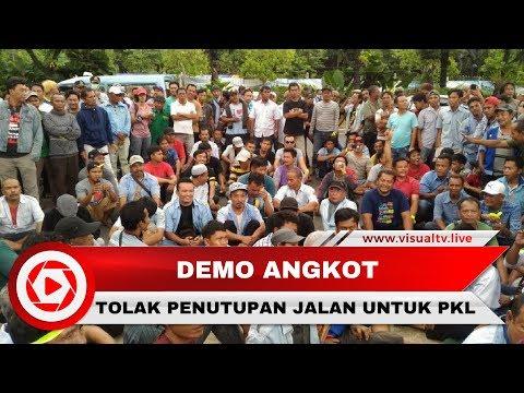 Ratusan Sopir Angkot Tanah Abang Demo, Tolak Penutupan Jalan untuk PKL