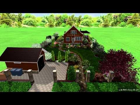 Ландшафтный дизайн дачного участка с уклоном 9 соток