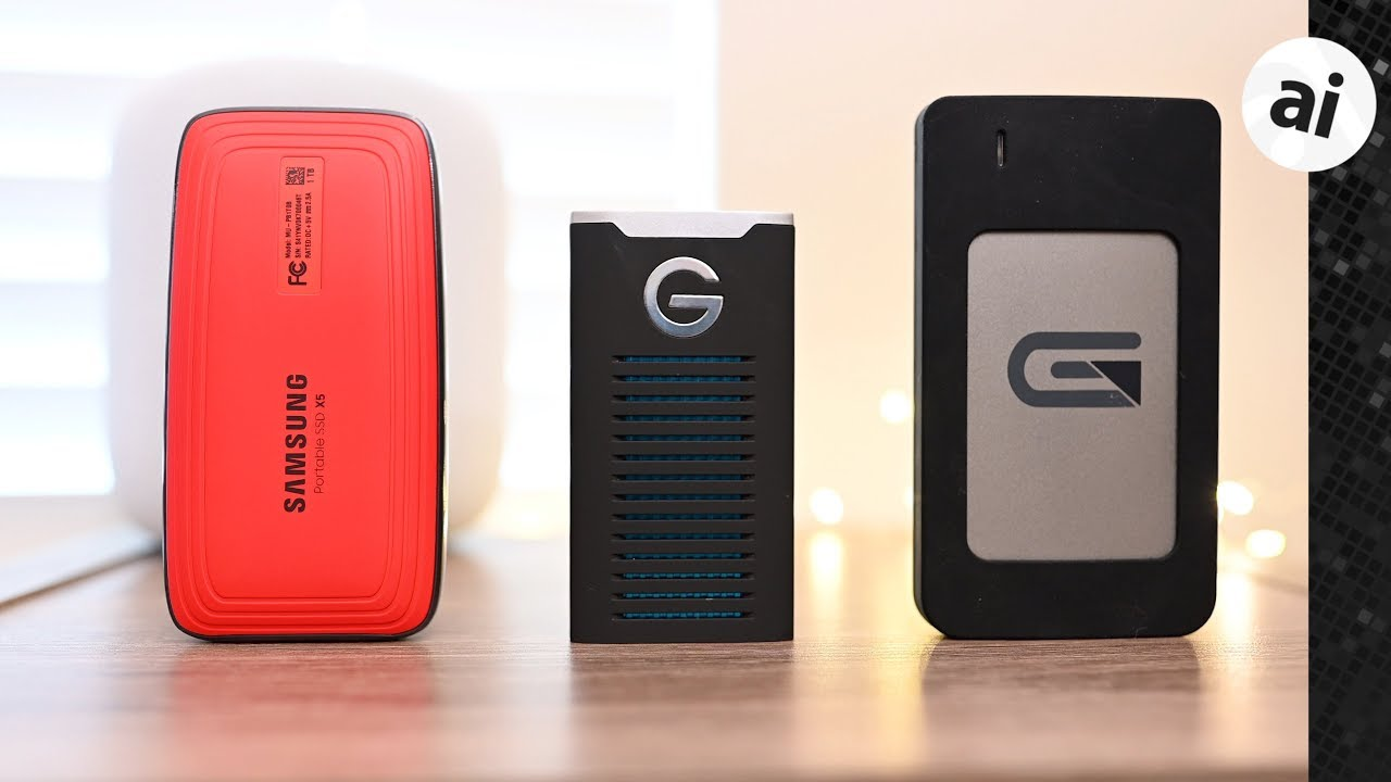 Comparing the Samsung X5 Thunderbolt 3 SSD versus the G-Drive Mobile