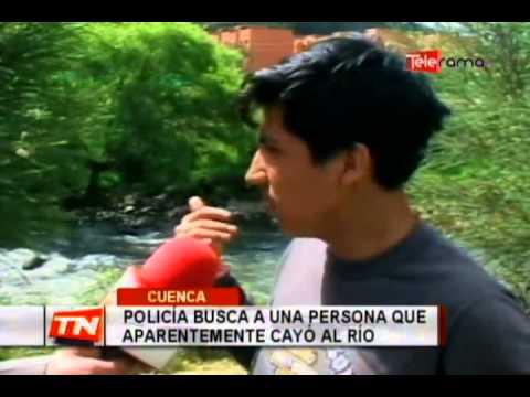 Policía busca a una persona que aparentemente cayó al río