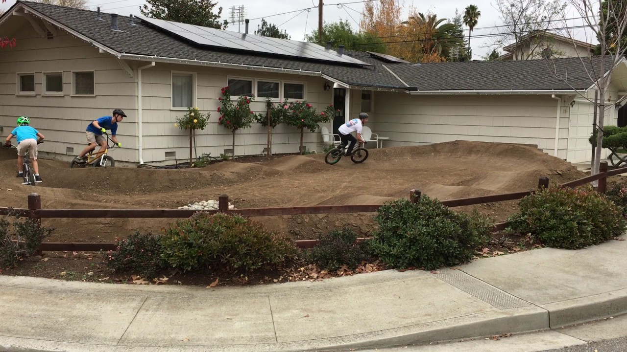 Backyard Pumptrack front yard pump track - youtube