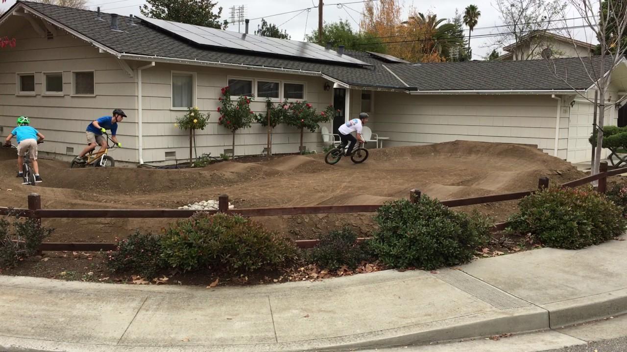 Backyard Pumptrack front yard pump track - youtube