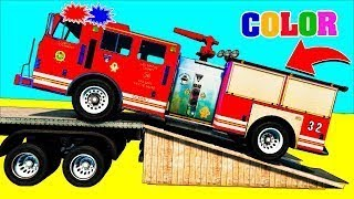 Caminhão De Bombeiro Homem Aranha Carros Desenhos Animados De Moto Video Para Crianças De