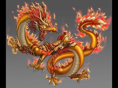 The flaming dragon