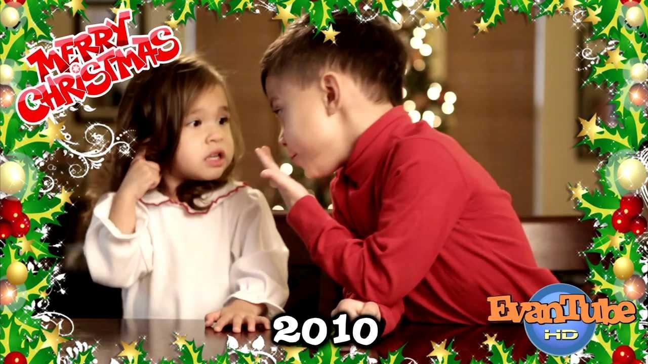 Christmas Flashback - Evan & Jillian sing Christmas Carols - YouTube