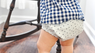 How to Sew a Reversible Diaper Cover and FREE pattern
