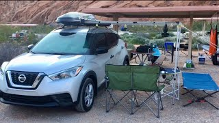 Camping in Valley of Fire State Park | Overton, Nevada | Nissan Kicks 2019