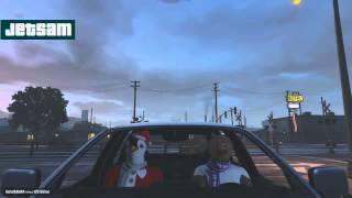GTA 5 Смешные моменты #77 Рождество, Санта Клаус, Танцы в машине (PC ULTRA)