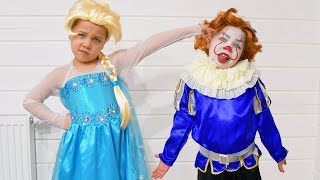 Пеннивайз в детстве! Эльза и Пеннивайз были друзьями! Или Эльза девушка Пеннивайза?