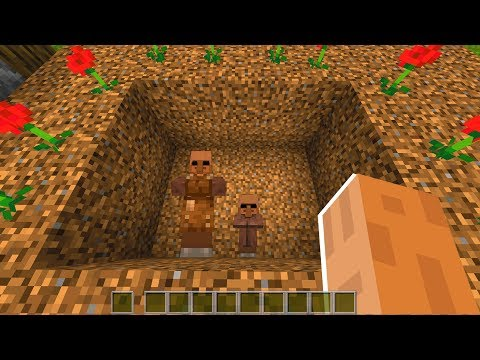 Minecraft villager family found in grave.. (SCARY)