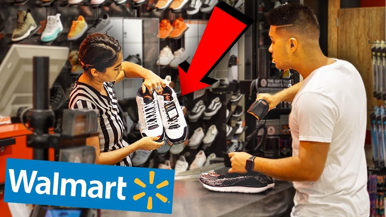 bfc48fb46ad RETURNING WALMART SNEAKERS TO FOOTLOCKER!! - YouTube