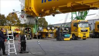 Liebherr LTM  400 ton kraan deel 1.