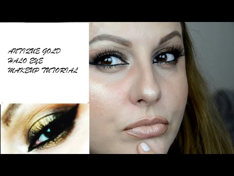 ANTIQUE GOLD HALO EYE MAKEUP TUTORIAL / MAKEUP BY CLIPA