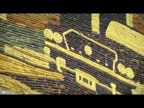 The Corn Palace = iconic building famous for being corny