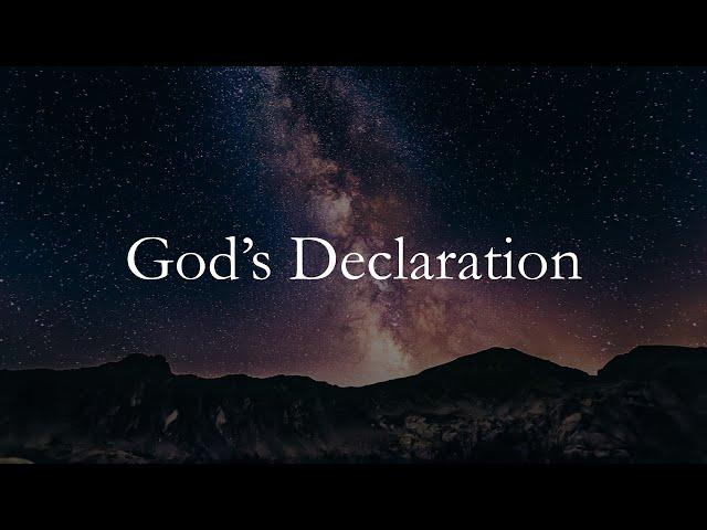 God's Declarations · 200517 Sunday · Pastor Jerome Pittman